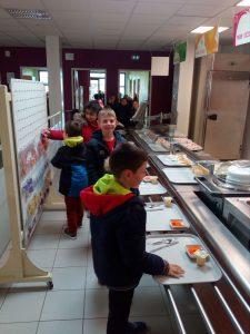 Enfants au self du restaurant scolaire Resto Kids de L'Herbergement