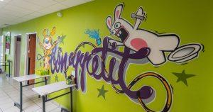 Graffiti Bon Appétit Restaurant scolaire Resto Kids de L'Herbergement