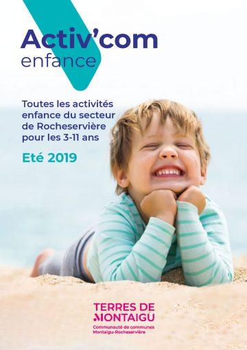 Image : couverture de l'Activ'com Enfance Rocheserviere - Été 2019 - Terres de Montaigu