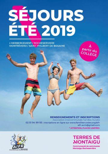 Visuel : couverture séjours jeunesse été 2019 - Rocheservière - Terres de Montaigu